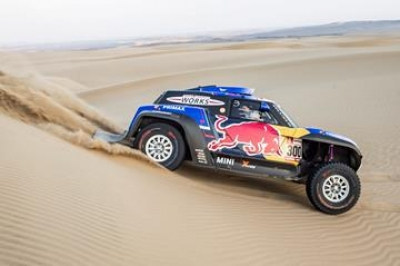 Sparks fly as Sébastien Loeb wins sensational second stage at 2019 Dakar Rally