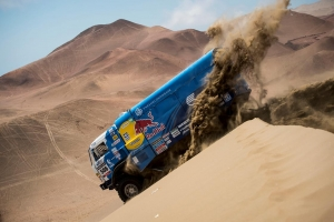 Making time on Stage Nine of Dakar